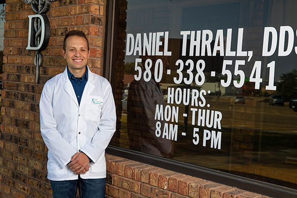 Dr. Daniel Thrall in His Office in Guymon, OK - Thrall Dental Care
